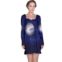 Moon And Stars Long Sleeve Nightdresses