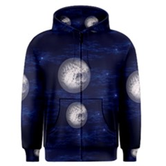 Moon and Stars Men s Zipper Hoodies