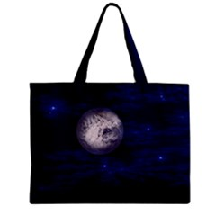 Moon And Stars Zipper Tiny Tote Bags