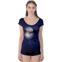 Moon and Stars Short Sleeve Leotard