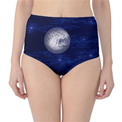 Moon and Stars High-Waist Bikini Bottoms