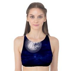 Moon And Stars Tank Bikini Top