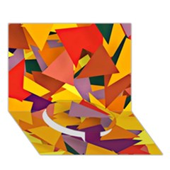 Geo Fun 8 Colorful Circle Bottom 3D Greeting Card (7x5)