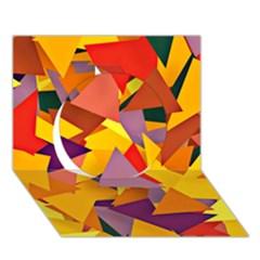Geo Fun 8 Colorful Circle 3D Greeting Card (7x5)