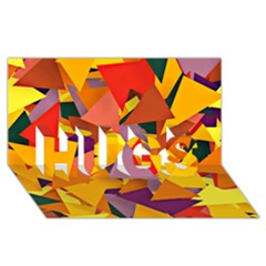 Geo Fun 8 Colorful HUGS 3D Greeting Card (8x4)