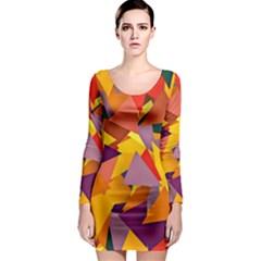 Geo Fun 8 Colorful Long Sleeve Bodycon Dresses