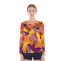 Geo Fun 8 Colorful Women s Long Sleeve T-shirts