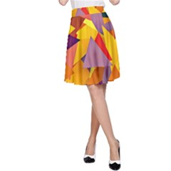 Geo Fun 8 Colorful A-Line Skirts