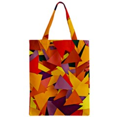 Geo Fun 8 Colorful Zipper Classic Tote Bags