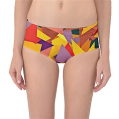 Geo Fun 8 Colorful Mid Waist Bikini Bottoms
