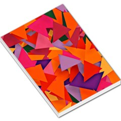 Geo Fun 8 Hot Colors Large Memo Pads