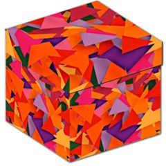 Geo Fun 8 Hot Colors Storage Stool 12