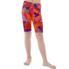 Geo Fun 8 Hot Colors Kid s swimwear