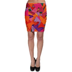 Geo Fun 8 Hot Colors Bodycon Skirts