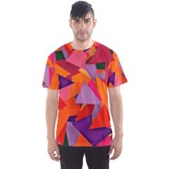 Geo Fun 8 Hot Colors Men s Sport Mesh Tees