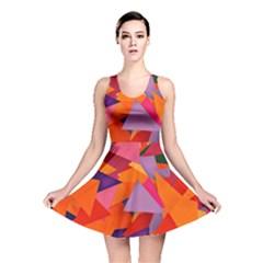 Geo Fun 8 Hot Colors Reversible Skater Dresses