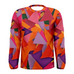 Geo Fun 8 Hot Colors Men s Long Sleeve T-shirts