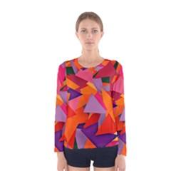 Geo Fun 8 Hot Colors Women s Long Sleeve T-shirts