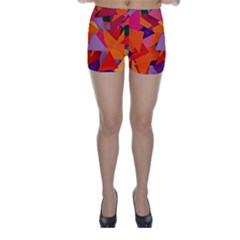 Geo Fun 8 Hot Colors Skinny Shorts