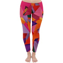 Geo Fun 8 Hot Colors Winter Leggings