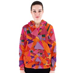 Geo Fun 8 Hot Colors Women s Zipper Hoodies