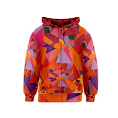 Geo Fun 8 Hot Colors Kids Zipper Hoodies