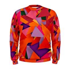 Geo Fun 8 Hot Colors Men s Sweatshirts