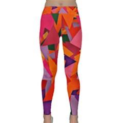 Geo Fun 8 Hot Colors Yoga Leggings