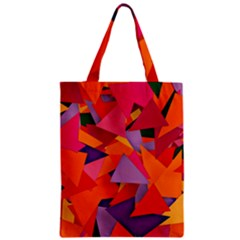 Geo Fun 8 Hot Colors Zipper Classic Tote Bags