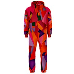 Geo Fun 8 Hot Colors Hooded Jumpsuit (men)