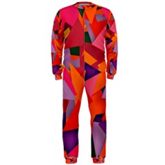 Geo Fun 8 Hot Colors OnePiece Jumpsuit (Men)