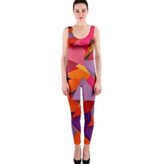 Geo Fun 8 Hot Colors OnePiece Catsuits