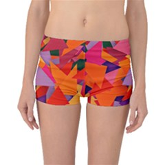 Geo Fun 8 Hot Colors Boyleg Bikini Bottoms