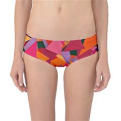 Geo Fun 8 Hot Colors Classic Bikini Bottoms