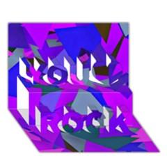 Geo Fun 8 Inky Blue You Rock 3d Greeting Card (7x5)