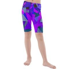 Geo Fun 8 Inky Blue Kid s swimwear