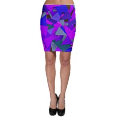 Geo Fun 8 Inky Blue Bodycon Skirts