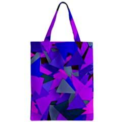 Geo Fun 8 Inky Blue Zipper Classic Tote Bags