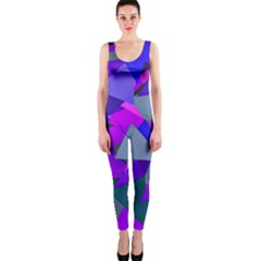 Geo Fun 8 Inky Blue OnePiece Catsuits