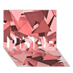 Geo Fun 8 Peach Hope 3d Greeting Card (7x5)