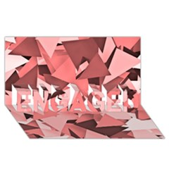 Geo Fun 8 Peach ENGAGED 3D Greeting Card (8x4)
