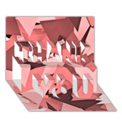 Geo Fun 8 Peach Thank You 3d Greeting Card (7x5)
