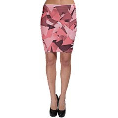 Geo Fun 8 Peach Bodycon Skirts