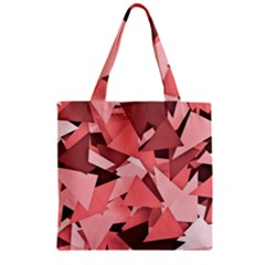 Geo Fun 8 Peach Zipper Grocery Tote Bags