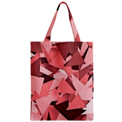 Geo Fun 8 Peach Zipper Classic Tote Bags