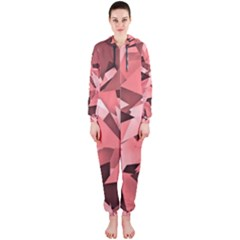 Geo Fun 8 Peach Hooded Jumpsuit (Ladies)