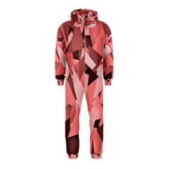 Geo Fun 8 Peach Hooded Jumpsuit (Kids)
