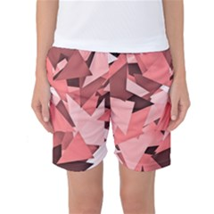 Geo Fun 8 Peach Women s Basketball Shorts