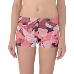 Geo Fun 8 Peach Boyleg Bikini Bottoms