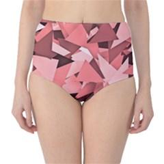 Geo Fun 8 Peach High-Waist Bikini Bottoms